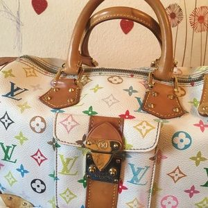LV multi color handbag